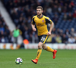 18 March 2017 Premier League Football : West Bromwich Albion v Arsenal :<br /> Shkodran Mustafi in action for Arsenal.<br /> Photo: Mark Leech