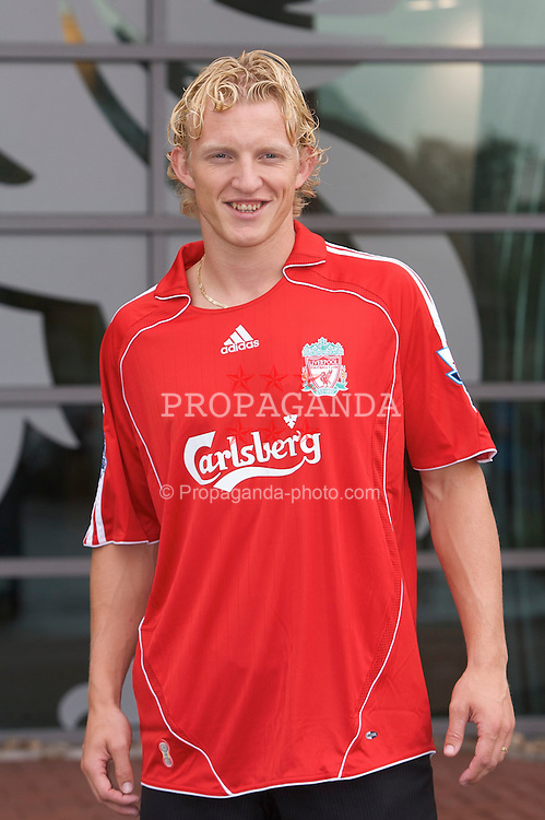 LIVERPOOL, ENGLAND - FRIDAY, AUGUST 18th, 2006: Liverpool's new signing Netherland's striker Dirk Kuyt outside the reception at the club's Melwood Training Ground. (Pic by David Rawcliffe/Propaganda)