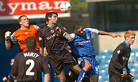 Foto: Digitalsport<br /> NORWAY ONLY<br /> SPORTSBEAT 01494 783165<br /> PICTURE ADY KERRY .<br /> MILLWALL VS READING<br /> MILLWALL'S  DANNY DICHIO CHALLENGES WITH READING'S ADI WILLIAMS AND KEEPER JAMIE ASHDOWN, 24TH APRIL 2004.