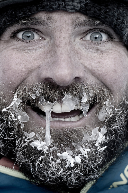 Filmer Chris Edmands photographed during a 5-day snow camp out for the Further movie, Austria. During the whole 5 days and nights the temperature never climbed above -15C.