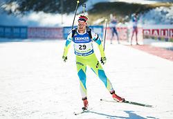 Klemen Bauer (SLO)  during Men 15 km Mass Start at day 4 of IBU Biathlon World Cup 2015/16 Pokljuka, on December 20, 2015 in Rudno polje, Pokljuka, Slovenia. Photo by Vid Ponikvar / Sportida