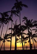 Sunset, Waikiki, Oahu, Hawaii, USA<br />