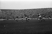 05/09/1982<br /> 09/05/1982<br /> 5 September 1982<br /> All-Ireland Hurling Final: Cork v Kilkenny at Croke Park, Dublin. <br /> Cork defender, John Blake, fails to stop Christy Heffernan from scoring the first point for Kilkenny.