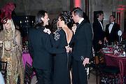 VIRGINIA BATES; MATTHEW WILLIAMSON; VICTORIA BECKHAM; , British Fashion awards 2009. Supported by Swarovski. Celebrating 25 Years of British Fashion. Royal Courts of Justice. London. 9 December 2009