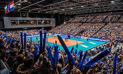 02-11-2016 NED: CEV CL Abiant Lycurgus - Dobruja 07 Dobrich, Groningen<br /> In een volgepakt MartinaPlaza speelt Lycurgus de eerste wedstrijd in de Champions League.