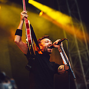 Rise Against performing live at the Rock A Field festival in Roeser, Luxembourg on July 4, 2015