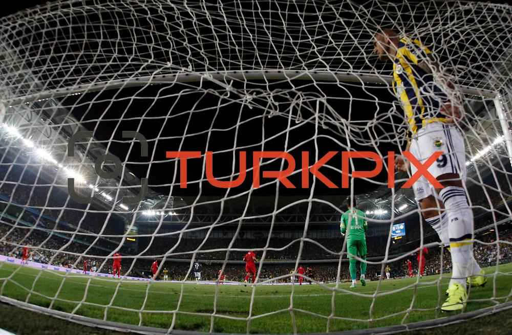 Fenerbahce's and Eskisehirspor's during their Turkish superleague soccer derby Fenerbahce between Eskisehirspor at the Sukru Saracaoglu stadium in Istanbul Turkey on Friday 14 August 2015. Photo by Aykut AKICI/TURKPIX