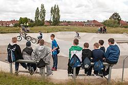 Boys on  BMX bikes