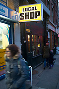 Local shop on Cable Street in the East End of London, England, United Kingdom.