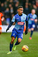 Wycombe Wanderers forward Paris Cowan-Hall(12) during the EFL Sky Bet League 1 match between Luton Town and Wycombe Wanderers at Kenilworth Road, Luton, England on 9 February 2019.
