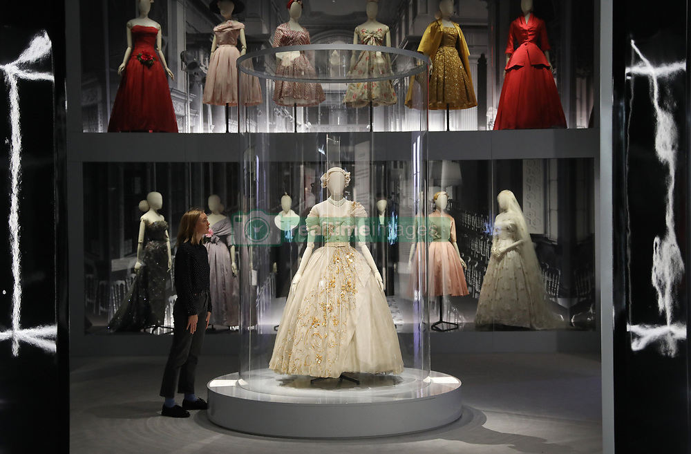 A preview into the 'Christian Dior: Designer of Dreams' exhibition held at the Victoria and Albert Museum, London. Picture dated: Wednesday January 30, 2019. Photo credit should read: Isabel Infantes / EMPICS Entertainment.