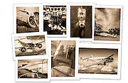 """Aerographs custom designed folios contain seven to nine images archivally printed on 8.5"""" x 11"""" Canson Baryta Photographique Fine Art paper. Image size is approximately 7"""" x 9"""". Embossed art paper enclosure. History of the aircraft and a colophon also included. Makes a fine gift. Satisfaction Guaranteed! $79..."""
