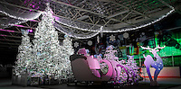 19 December 2013:  The Magical Holiday Forest Christmas Tree installation at the Toyota Sports Center in El Segundo, California.  Central Martel.