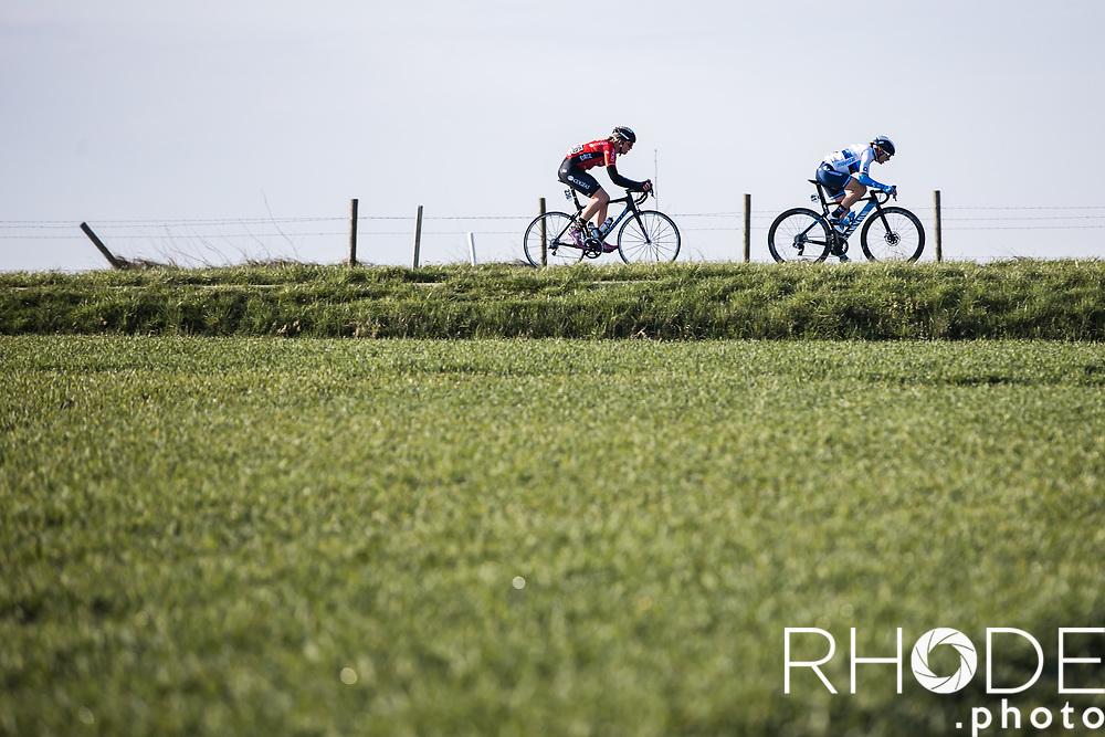 Annemiek Van Vleuten (NED/Movistar) early race behind the peloton<br /> <br /> 7th Amstel Gold Race Ladies Edition <br /> Valkenburg > Valkenburg 116km<br /> <br /> ©RhodePhoto