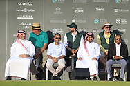 Presentation party gathering at the end of play for the final round of  the Saudi International powered by Softbank Investment Advisers, Royal Greens G&CC, King Abdullah Economic City,  Saudi Arabia. 02/02/2020<br /> Picture: Golffile   Fran Caffrey<br /> <br /> <br /> All photo usage must carry mandatory copyright credit (© Golffile   Fran Caffrey)