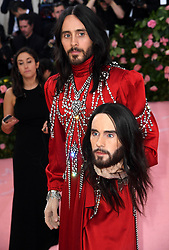 """Jared Leto at the 2019 Costume Institute Benefit Gala celebrating the opening of """"Camp: Notes on Fashion"""".<br />(The Metropolitan Museum of Art, NYC)"""