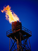 Flare stack at BP's Main Production Island of the Endicott Development Project, Beaufort Sea east of Prudhoe Bay, Alaska.