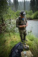 Fly fishing Upper Rogue River, Oregon.