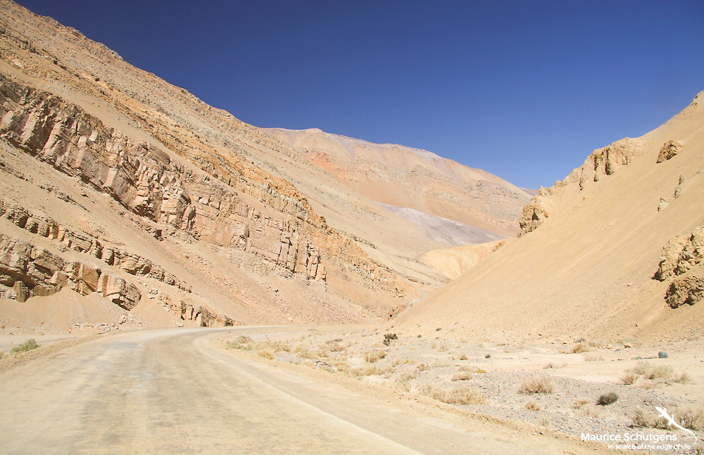 The high altitude roads of northern Chile.