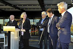 October 5, 2017 - Nice, France - Nathalie Boy de la Tour (presidente de la Ligue de football professionnelle) - Christian Estrosi (Maire de Nice, president de la metropole Nice Cote d Azur) - Jean Pierre Rivere  (Credit Image: © Panoramic via ZUMA Press)
