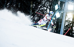 """Carmen Thalmann (AUT) competes during 1st Run of FIS Alpine Ski World Cup 2017/18 Ladies' Slalom race named """"Snow Queen Trophy 2018"""", on January 3, 2018 in Course Crveni Spust at Sljeme hill, Zagreb, Croatia. Photo by Vid Ponikvar / Sportida"""