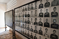 Image boards at Tuol Sleng Genocide Museum, Phnom Penh, Cambodia