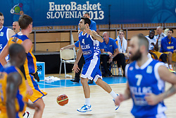 04.09.2013, Arena Bonifka, Koper, SLO, Eurobasket EM 2013, Schweden vs Griechenland, im Bild Kostas Sloukas #4 of Greece // during Eurobasket EM 2013 match between Sweden and Greece at Arena Bonifka in Koper, Slowenia on 2013/09/04. EXPA Pictures © 2013, PhotoCredit: EXPA/ Sportida/ Matic Klansek Velej<br /> <br /> ***** ATTENTION - OUT OF SLO *****