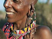 Maasai tribeswoman and child, Oyaratta village near Maasai Mara Game Reserve, Kenya