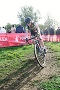 Belgium, November 1 2017:  Aniek Van Alphen (Ned), WV Breda, was 23rd in the 2017 edition of the Koppenbergcross.  Copyright 2017 Peter Horrell.