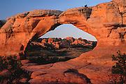 Broken Arch at sunrise, Arches National Park, Utah