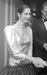 LADY COLIN CAMPBELL at a party in London on 25th November 1981.