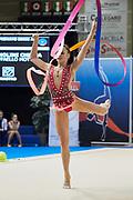 Chiara Vigniolini from Raffaello Motto team during the Italian Rhythmic Gymnastics Championship in Padova, 25 November 2017.
