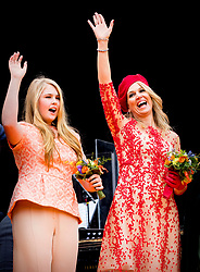 Queen Maxima with Princess Amalia attending King's Day Celebrations in Groningen, Netherlands, on April 27, 2018. Photo by Robin Utrecht/ABACAPRESS.COM
