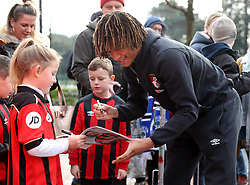 AFC Bournemouth's Nathan Ake signs autographs for fans before the FA Cup, third round match at the Vitality Stadium, Bournemouth.