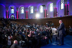 © Licensed to London News Pictures. 28/11/2016. London, UK. New party leader PAUL NUTTALL speaking on stage following the announcement of the new leader of the UK Independence Party (UKIP), at the Emmanuel Centre in Westminster London.. Photo credit: Ben Cawthra/LNP