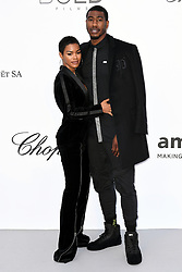 Teyana Taylor and Iman Shumpert attending the 25th amFAR Gala held at the Hotel du Cap-Eden-Roc in Antibes as part of the 71st Cannes Film Festival