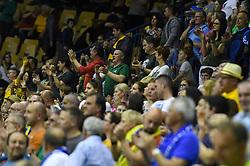 Spectators during the handball match between RK Celje Pivovarna Lasko and RK Gorenje Velenje in last round of Liga NLB 2018/19, on May 31st, 2019, in Arena Zlatorog, Celje, Slovenia. RK Celje PL became Slovenian National Champion in year 2019. Photo by Milos Vujinovic / Sportida