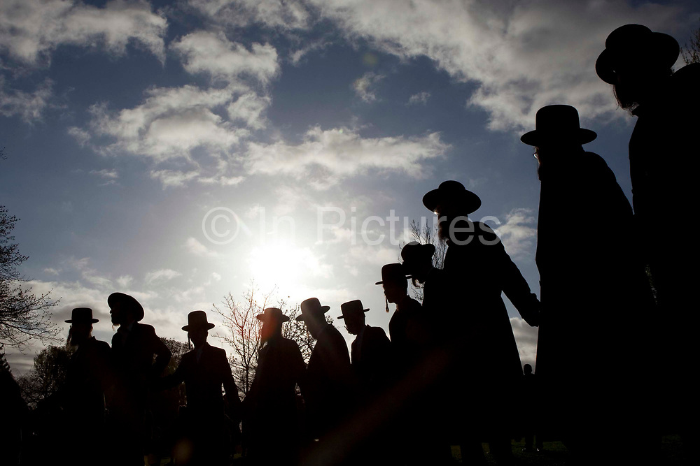 "Hundreds of Orthodox Jews gathered today (8th of April 2009) in Springfield park, Stamford Hill, to celebrate the festival of Birkat Hachama (blessing of the sun).  It is a Jewish blessing that is recited in appreciation of the Sun once every twenty-eight years, when the vernal equinox as calculated by tradition falls on a Tuesday at sundown. Jewish tradition says that when the Sun completes this cycle, it has returned to its position when the world was created. According to Judaism, the Sun has a 28 year solar cycle known as machzor gadol (מחזור גדול, ""the large cycle""). A solar year is estimated as 365.25 days and the ""Blessing of the Sun"", being said at the beginning of this cycle, is therefore recited every 10,227 (28 times 365.25) days"
