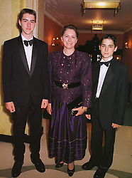 Left to right, PRINCE GEORGE OF YUGOSLAVIA, PRINCESS TOMISLAV OF YUGOSLAVIA and PRINCE MICHAEL OF YUGOSLAVIA, at a reception in London on 19th June 1999.MTL 14
