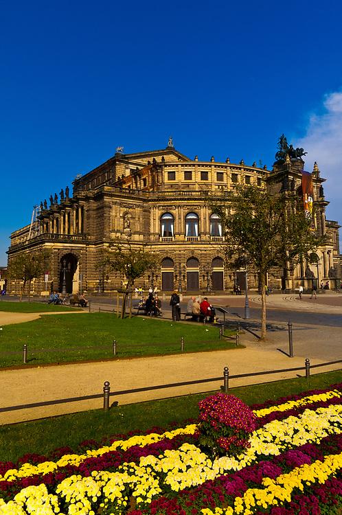 Semper Opera House, Theaterplatz, Dresden, Saxony, Germany