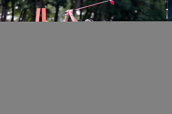 June 22, 2018 - Cromwell, CT, U.S. - CROMWELL, CT - JUNE 22: Bubba Watson of the United States hits from the 18th tee during the Second Round of the Travelers Championship on June 22, 2018, at TPC River Highlands in Cromwell, Connecticut. (Photo by Fred Kfoury III/Icon Sportswire) (Credit Image: © Fred Kfoury Iii/Icon SMI via ZUMA Press)