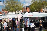 Market stalls, Devizes, Wiltshire, England, UK