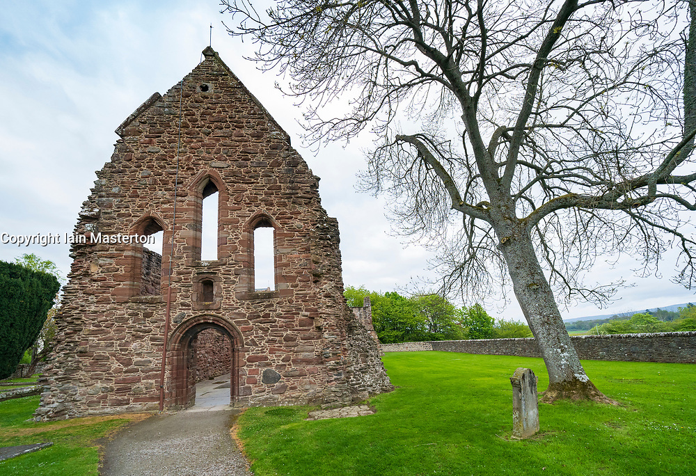 Exterior of Beauty Priory in Beauty Inverness-shire, on the North Coast 500 scenic driving route in northern Scotland, UK