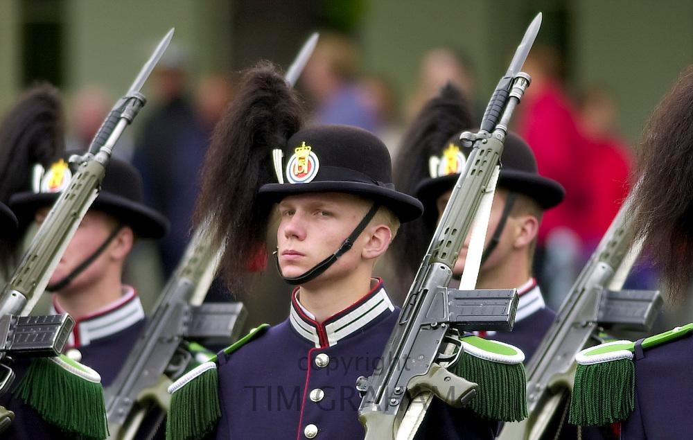 Guard of honour at the Norwegian War Memorial at Akershus Castle, Oslo, Norway