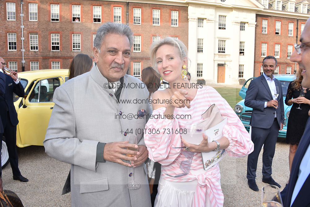 HH The Maharaja of Jodhpur and Ruth Ganesh at the Concours d'éléphant in aid of Elephant Family held at the Royal Hospital Chelsea, London, England. 28 June 2018.
