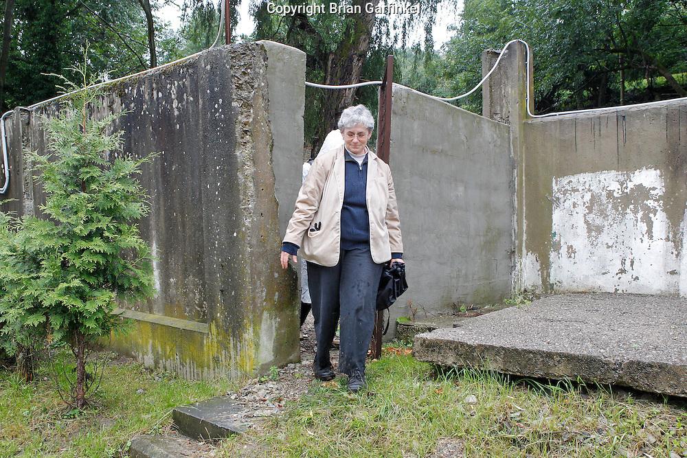 Mom leaves the Jewish Cemetery in Povazka Bystrica, Slovakia on Sunday July 3rd 2011. (Photo by Brian Garfinkel)