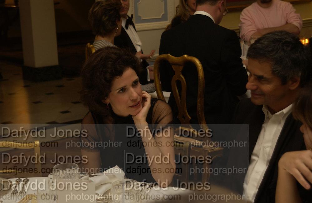 Mollie Dent-Brocklehurst. Dinner at the Italian Embassy in which the winner of the MaxMara Art Prize for Women is announced. Grosvenor Sq. London . 2 February  2006. © Copyright Photograph by Dafydd Jones 66 Stockwell Park Rd. London SW9 0DA Tel 020 7733 0108 www.dafjones.com