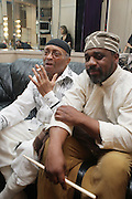 l to r: Cecil Taylor and his percussionist, Pherroan Aklaff at Cecil Taylor Celebrating The 80th Year Produced by Jill Newman Productions held at The Blue Note in New York City on May 28, 2009
