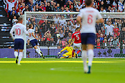 A goal by Harry Kane of England is disallowed due to him being offside during the UEFA European 2020 Qualifier match between England and Bulgaria at Wembley Stadium, London, England on 7 September 2019.