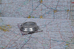 Compass - a compass is used to find the north pole which allows you to plot your way using a map and coordinates or in the field using point of reference in the landscape